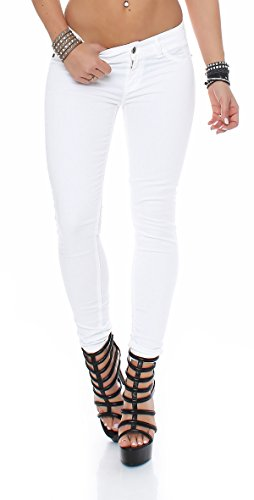 Maryley Damen Jeans S16B690T09 M weiß