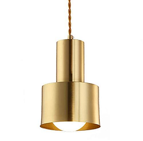 ZUEN Modern Full Copper Chandelier, Metal Shades Flush Mount Ceiling Light Modern Chandelier Lighting Fixture for Bedroom, Hallway, Bar, Kitchen, Bathroom Full Mount