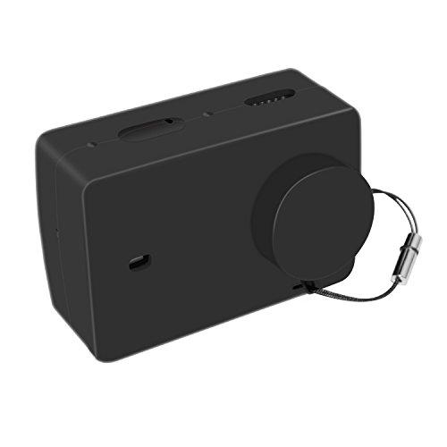 Imusk morbido silicone custodia protettiva borsa per xiaomi yi 4k / 4k plus sport / action borse per fotocamere digitali custodia accessori con copriobiettivo lanyard