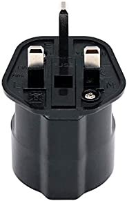 EU to KSA/UAE/UK/HK Adaptor Plug with 13A Fuse and Safety Shutter, 2-Pin DE/FR/IT/ES European Plug Convert to