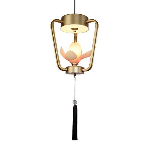 Lampadari a led cinesi, creativo vintage nero/oro resina ferro intagliato decorazione floreale lampadario lampade da soffitto antico balcone corridoio lampada a sospensione, 3 file dimmer