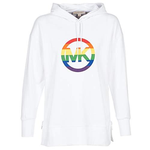 Michael MICHAEL KORS Logo RNBOW ZIPPULLOVR Sweatshirts und Fleecejacken Damen Weiss - S - Sweatshirts