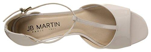 Jb Martin Damen 1bougie T-Spangen Sandalen Beige (Veau Vernis Light Natural)
