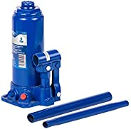 Ford FCA-008 5 Ton Hydraulic Bottle Car Jack, Car Lift For Garage and Tire Change in Blow Molded Case, Blue