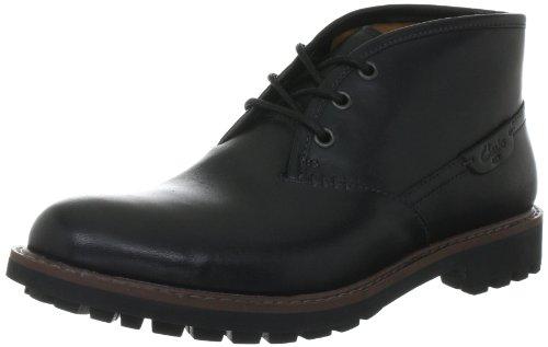 Clarks Montacute Duke, Herren Kurzschaft Stiefel, Schwarz (Black Leather), 44.5 EU