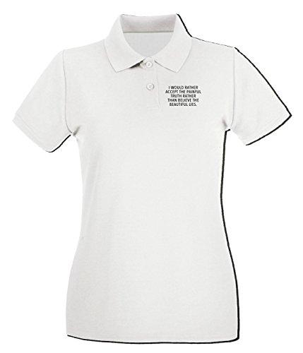 Cotton Island - Polo pour femme CIT0016 Absolutely Blanc