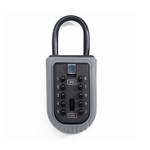 Schlüsselbox Wall Key Key Safe Storage Organizer Box mit Kombinationsschloss 10-Digital Passwort wetterfeste Abdeckung für den Außengebrauch - Elektronische Passwort-organizer