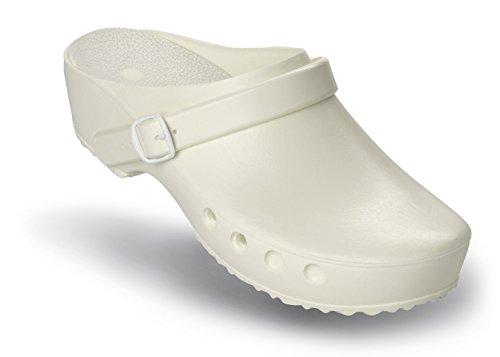 Schürr Op-shoes Chiroclogs Classico Con E Senza Cinturino Sul Tallone Bianco Con Cinturino Sul Tallone