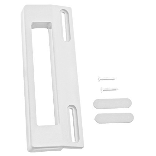 SPARES2GO Universal verstellbare Kühlschrank Gefrierschrank Türgriff (190mm, weiß) Universal verstellbare Kühlschrank Gefrierschrank Türgriff (190mm, weiß)