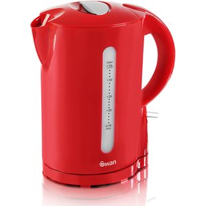 Swan 1.7L Jug Kettle Red - Want the ultimate in brew-making convenience in one, compact, stylish appliance? That'll be the 1.7 litre Jug Kettle from