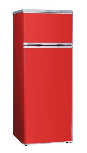 Severin KS 9764 Doppeltür-Kühl-/Gefrierschrank, rot / EEK A+: 208 kWh/Jahr / Kühlen: 166 Liter / Gefrieren: 46 Liter -
