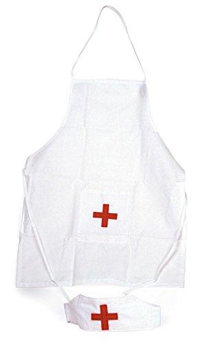 Kinder Krankenschwester Kostüm (Egmont-Toys-Krankenschwester-Schürze und -Mütze/Hut)