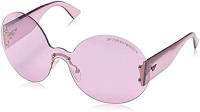 Emporio Armani - Gafas de sol Wrap EA 9837/S para mujer, Light Rose Transparent Frame / Gradient Rose
