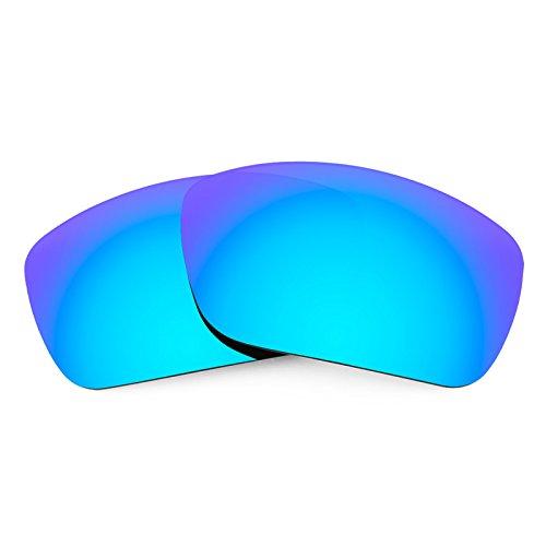 Revant Verres de Rechange pour Maui Jim Canoes MJ208, Polarisés, Bleu Glacier MirrorShield