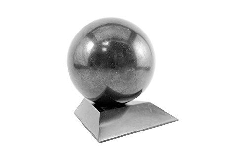 Preisvergleich Produktbild Schungit Stein Kugel mit einem Ständer 5cm (5,1cm) von karelische Heritage Company