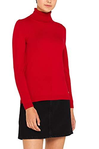 edc by ESPRIT Damen 099Cc1I001 Pullover, Rot (Dark Red 610), Large (Herstellergröße: L)