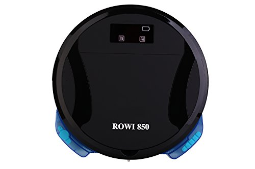 ROWI850 - Saugroboter & Wischroboter mit HEPA-Filter für Allergiker; saugstark; auch für Tierhaare geeignet; zeitlich programmierbar; automatische Rückkehr in die Ladestation; flaches Design (6,8 cm)