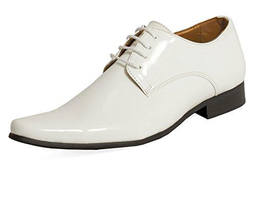 Dobell Herren Lackschuhe Elegante Schuhe Schnürschuhe Abendschuhe Weiß 44