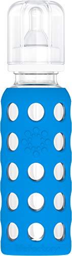 Lifefactory Biberon en Verre/Silicone Bleu Océan 250 ml