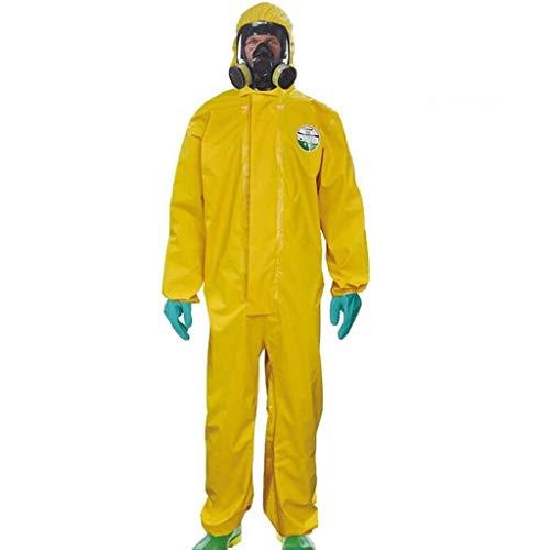 FDHLTR Tuta, Protezione Generale e lavori di Sicurezza Indumenti Anti-spruzzo di Prodotti chimici Anti-spruzzo in PVC Leggero Anti-Acido e alcali Tuta Protettiva (Size : Small)