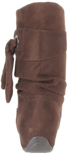 Easy Street Appeal Damen Breit Rund Faux Wildleder Mode-Stiefeletten Brown