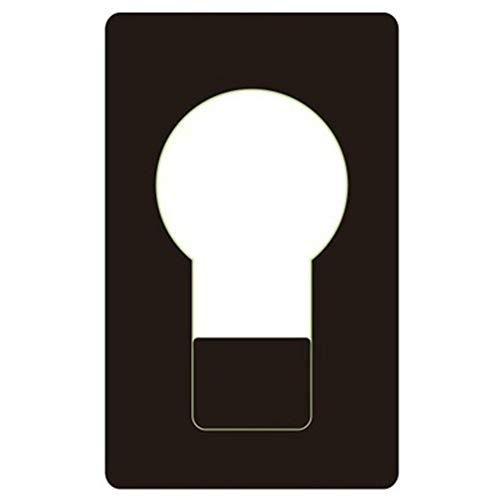 icht LED Licht Nachtlicht Kreative Kreditkarte LED Taschenlampe Kreative Geschenke in Geldbörse Geldbörse Geschenk Grußkarten - Schwarz ()