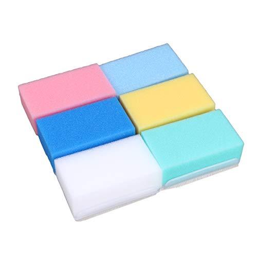 SUPVOX Cepillo Suave del baño del Entrenamiento de la integración sensorial de la Esponja del baño para el recién Nacido Infantil 6pcs