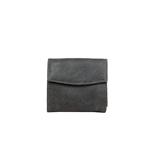 Porte monnaie porte cartes billets cuir vieillie Safari SFL3574 - Gris