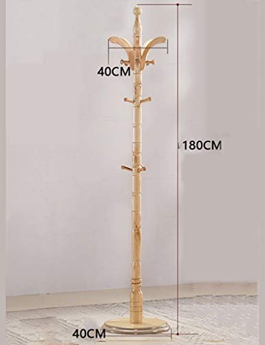 ZLL Wäscheständer Kleiderbügel Mantel Rack Massivholz DREI Beine Kleiderbügel Boden Kleiderbügel Schlafzimmer Einfache Kleiderständer 180 cm Kleiderständer,Mittelmeer- -