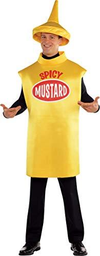 Wasser Flasche Halloween Kostüm - amscan 844266-55 Kostüm Senf, Gr. M/L, gelb