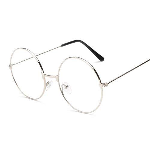 Kjwsbb Unisex Classic Gold Metallrahmen Brille Frauen Klassische Vintage-Stil Optische Runde Brille Zum Lesen