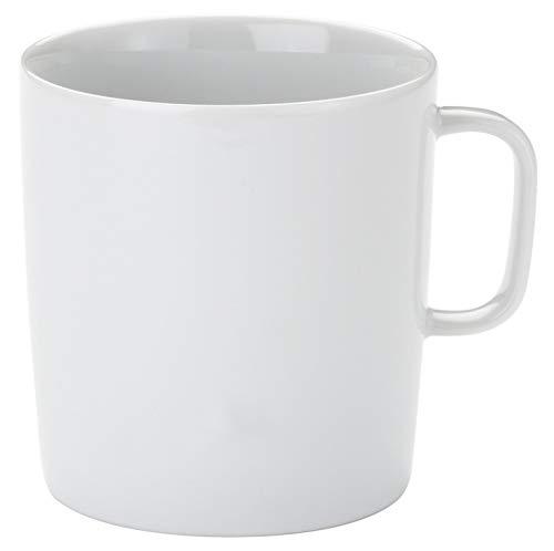 Alessi Ajm28/89 Platebowlcup Mug en Porcelaine Blanche, Set de 4 Pièces
