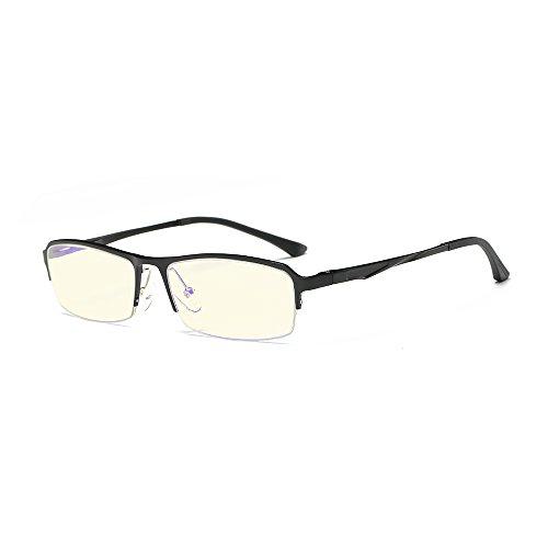 Skitic Unisex Blaulichtfilter Computerbrille Gamingbrille Halbrahmen Brille Ohne Stärke für...