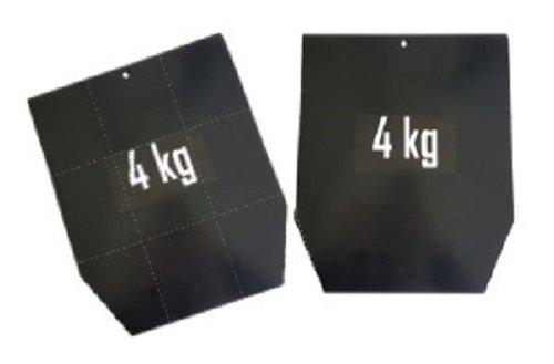 sveltus Platte Stahl für Weste Pro (Paar) Gewicht für Gewichtsweste Unisex Erwachsene, schwarz