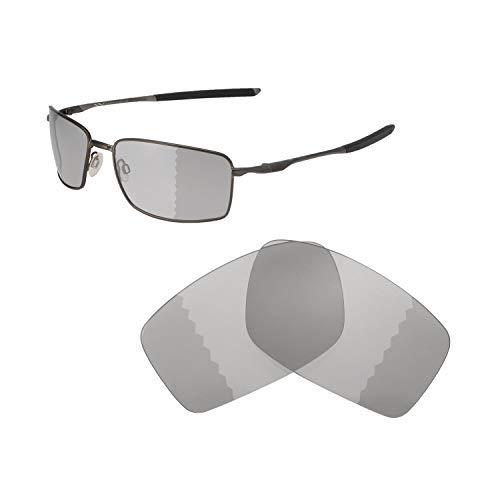 Walleva Ersatzlinsen für Oakley Square Wire II (OO4075-Serie), Verschiedene Optionen erhältlich, Unisex-Erwachsene, Transition/Photochromic - Polarized, Einheitsgröße
