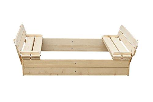 Blockbohlen Sandkasten Willi - H31xL118xB118