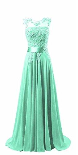 Kmformals Damen Chiffon Langes Party Ballkleid Abendkleid 36 Mintgrün