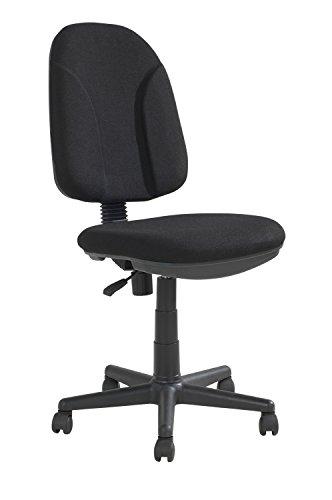 Home4You Bürostuhl Drehstuhl Schreibtischstuhl | Kunststoff | Schwarz | höhenverstellbar