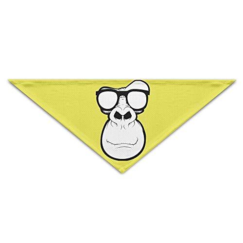 Gorgeous Socks Lovely Cool Monkey Head Polyesterfaser 100% Pet Schals Zubehör Einstellbar für alle Größen Hunde Katzen Haustiere