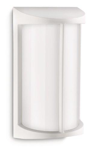 Philips Ecomoods Pond - Aplique, iluminación exterior, casquillo E27, aluminio, color blanco