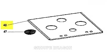 SCHOLTES - vitre de dessus vitro-ceramique pour table de cuisson SCHOLTES