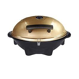SUNTEC Barbecue/braciere elettrico BBQ-9479 [cofano amovibile con indicatore di temperatura, incl. porta salse, termostato regolabile, max. 2400 W]