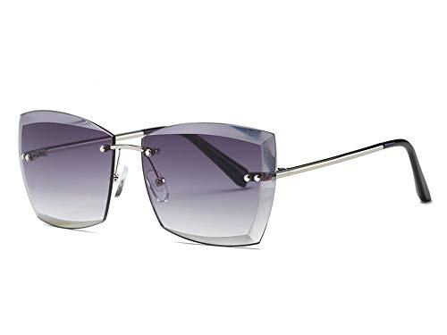 NauyGnol Sonnenbrille für Damen, quadratisch, randlos, zum Schneiden von Gläsern Gr. Einheitsgröße, Nr.1