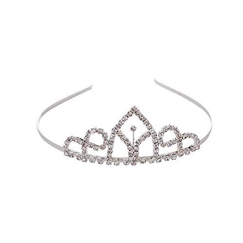 Symbol Krone Tiare Prinzessin Brautkrone Diadem Strass Zubehör Haarschmuck Luxus für die Hochzeit Party