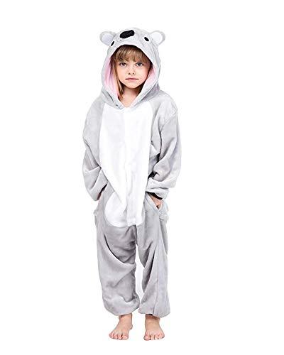Finewlo Animal Pyjamas, Kinderkostüm für niedliche Tiere für den Winter, Koala, 9-10 Jahre y suggest51-55