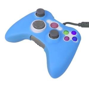 ELECTROPRIMEÃ?â??® Luminous Silicone Skin Case Cover Protector for Xbox 360 Controller Blue