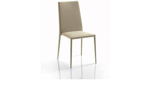 Bontempi set di sedie impilabili malik imbottite in ecopelle