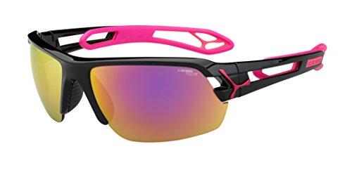 Cébé S'Track - Gafas de sol deportivas, color negro brillante / magenta, talla M