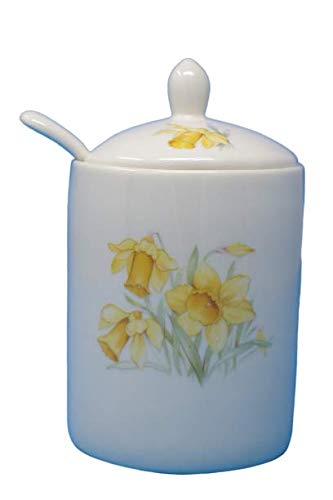 Steingut, Jam Pot Daffodil Design (9607) - Jam Pot