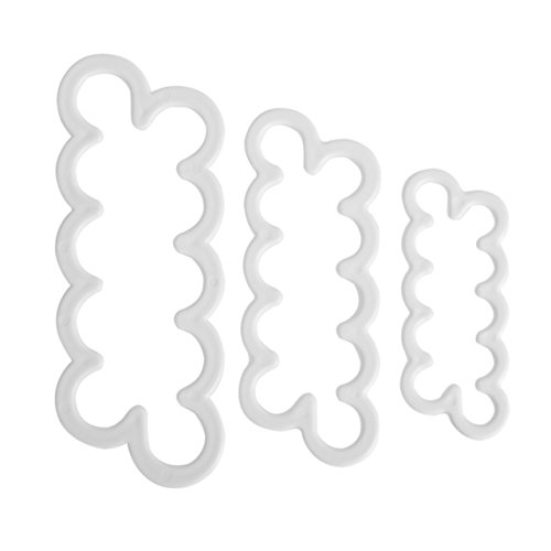 Newcomdigi Kit di 3 Stampi Pasta di Zucchero Stampi per Dolci Tagliapasta Rosa Veloce Decorazioni Torte Kit Pasticceria Stampo Cupcake 16/13/10cm